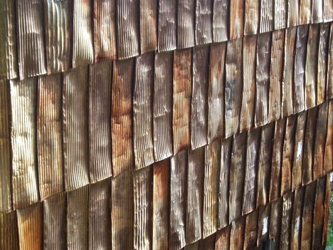 Recycled Tin Can Siding Studio Ideas Recycled Tin Cans