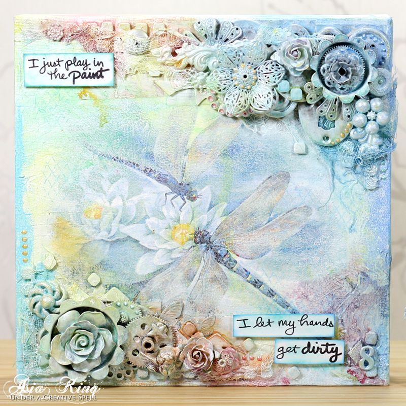Craft and Hobby Association 2015 Project: Mixed Media Dragonflies - Part 1 ~ Und...