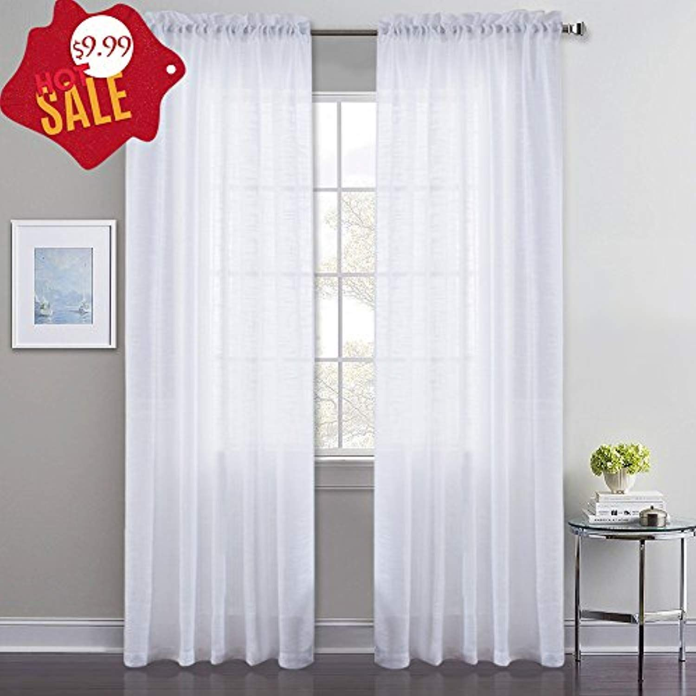Pony Dance White Sheer Curtain Natural Window Panels Home Decor