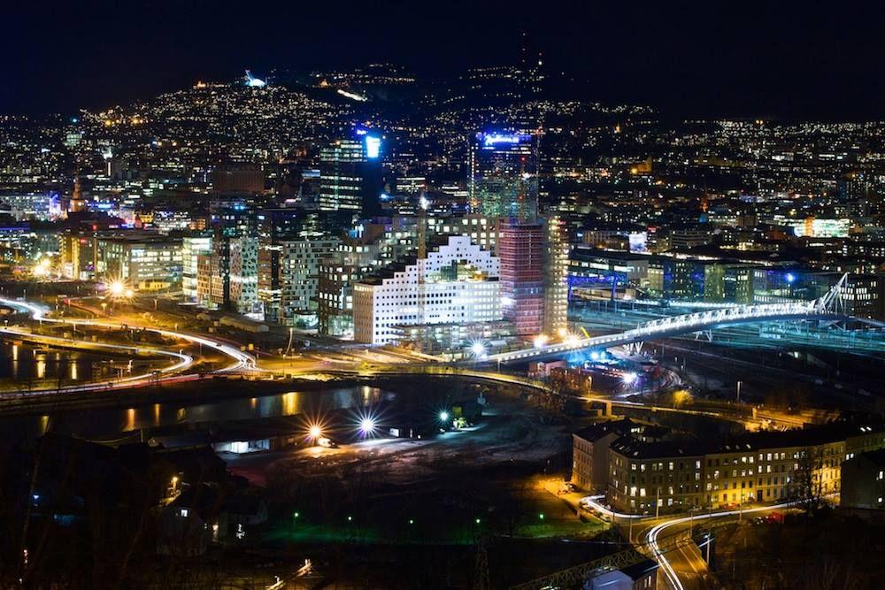 Wonderful view of street lights, last Night in Oslo  oslo  norway   lightphotography Photo by Vidar Haby 488054d80b