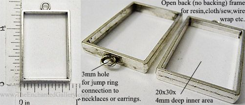 Antique silver rectangle open back pendant frame blank for ice resin antique silver rectangle open back pendant frame blank for ice resin seal back with contact mozeypictures Gallery