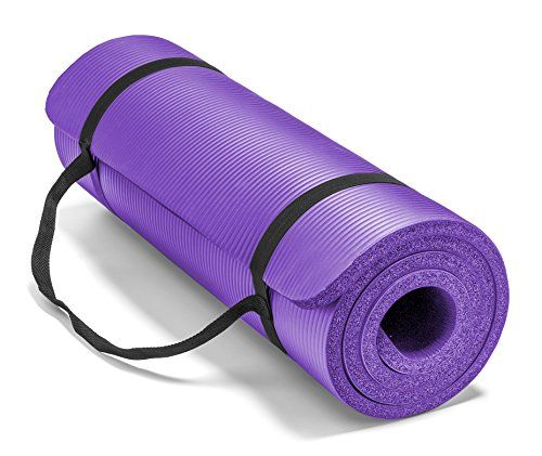 Amazon Com Spoga Premium High Density Exercise Yoga Mat With Comfort Foam And Carrying Straps Purple 71 X 5 8 Spo Mat Exercises Yoga Mats Best Yoga Mat