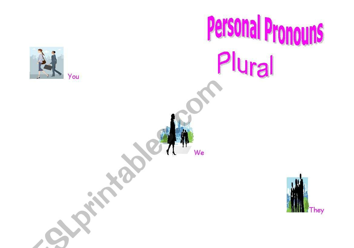 Personal Pronouns Plural Worksheet