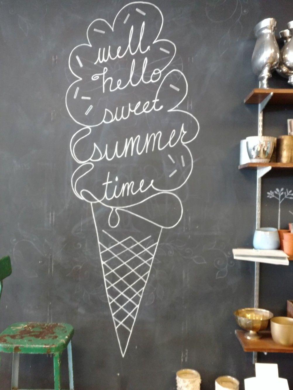 Humphreysflorist Summer Chalkboard Art Chalkboard Art