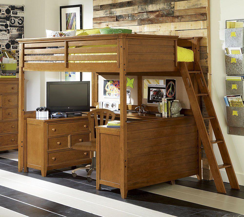 Bed with a desk wardrobe versatile children go bed under table - Children S Office Under Bed In Bunk Bed Loft System