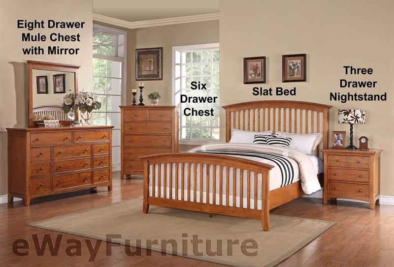 Shaker Bedroom Furniture | Ashland Shaker Style Slat Bed Bedroom Furniture Set