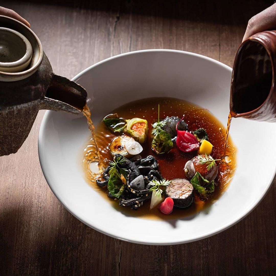 "Chef Dániel Varga on Instagram: ""Two side of Ramen! 😜 Photo:@antonio_fekete_designfood #instagood #instafood #instamoment #instaphoto #instadaily #instamood #inspiration…"""