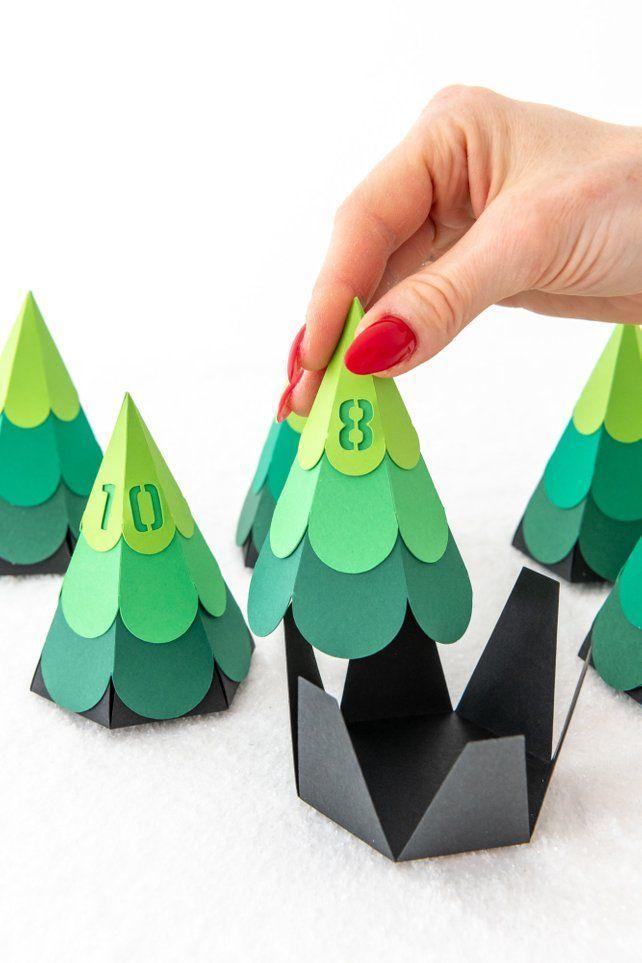 Adventskalender DIY, Weihnachtsbaum Oh Tannenbaum, Adventskalender Kinder, Tanne, Baum, Wald,…