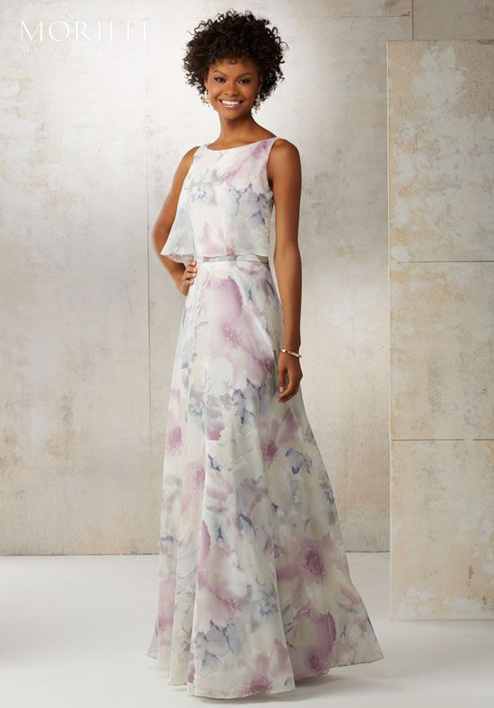 6ae2ecf704e8 Morilee by Madeline Gardner Bridesmaids. Morilee by Madeline Gardner  Bridesmaids Purple Floral Bridesmaid Dresses ...