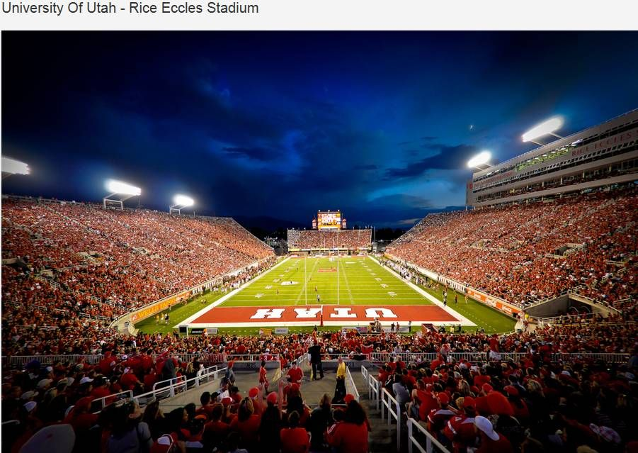 University of Utah Utes football - inside Rice - Eccles Stadium