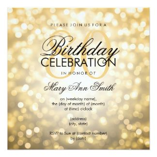 80th Birthday Invitations 2200 80th Birthday Announcements