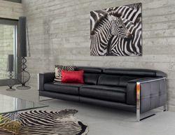 Canape Vogue Un Style Affirme Pour Un Salon Xxl Design Et Epure Noir Canape Design Mobilier Design Canape Xxl