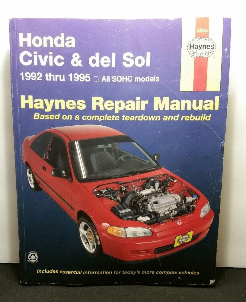 1992 honda civic repair manual