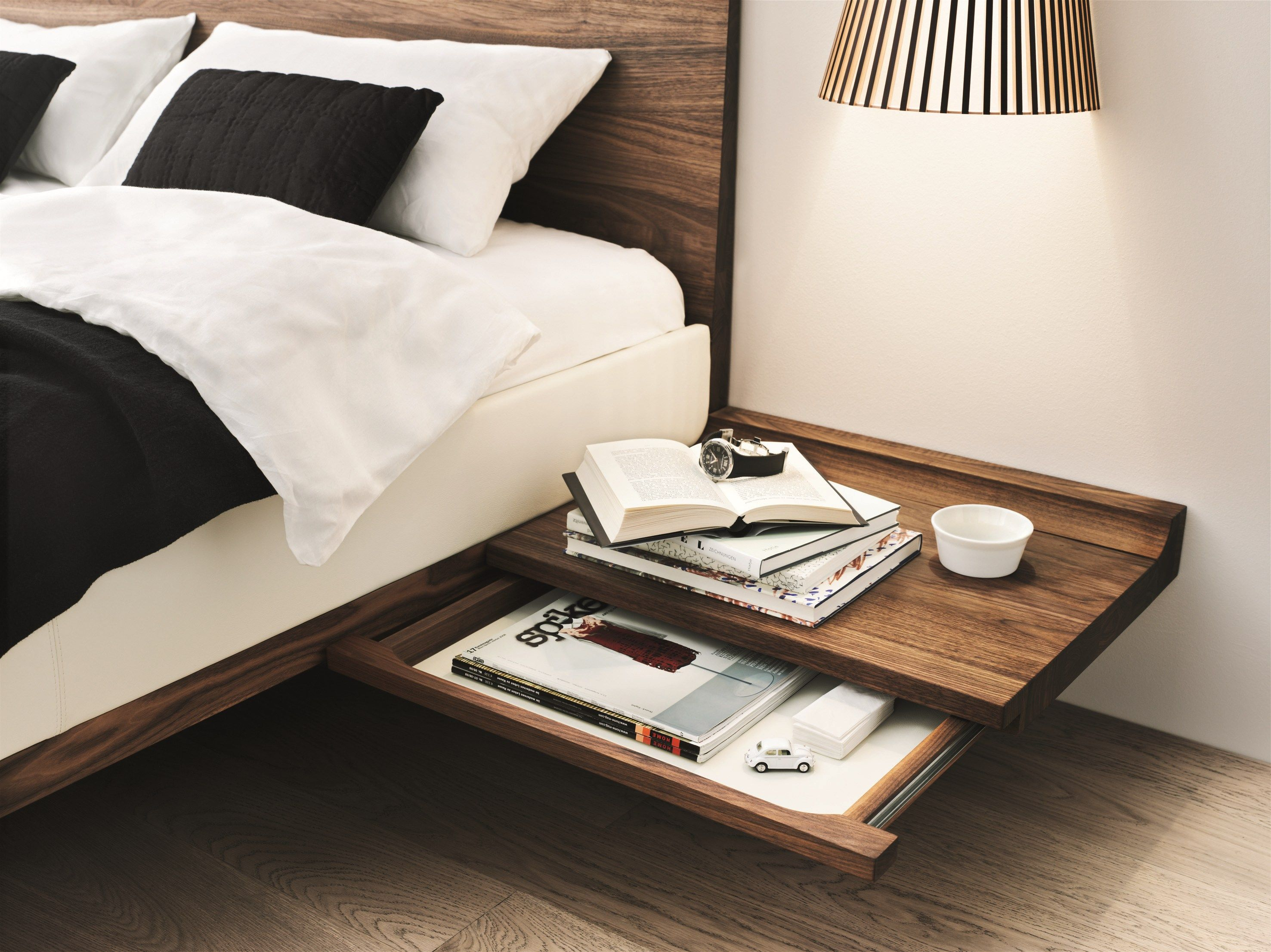 Double bed designs in wood - Solid Wood Double Bed Riletto Riletto Collection By Team 7 Nat Rlich Wohnen Design Kai Stania