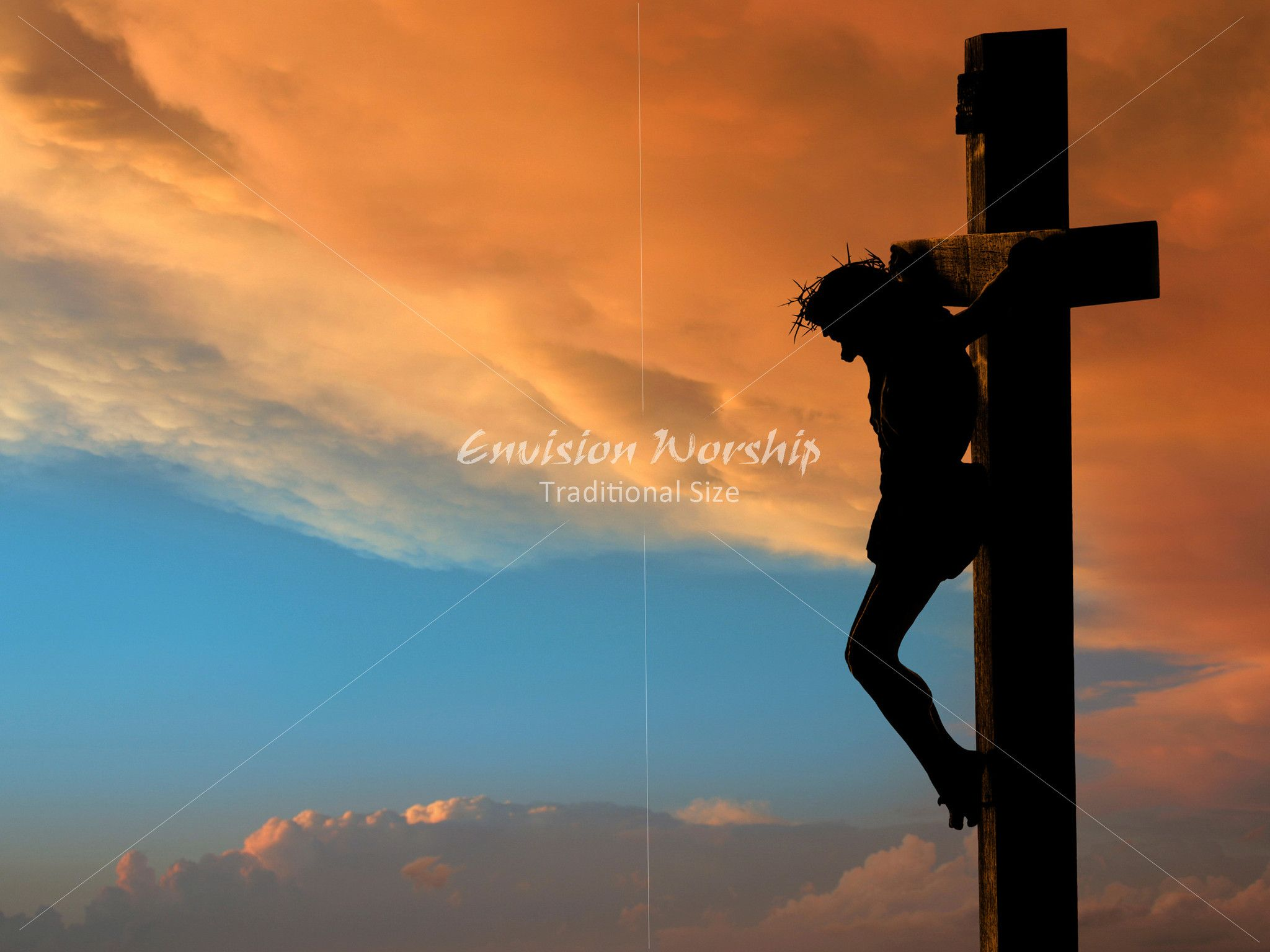 Silhouette of the holy cross on background of storm clouds stock - Holy Week Powerpoint On The Cross Stunning And Powerful