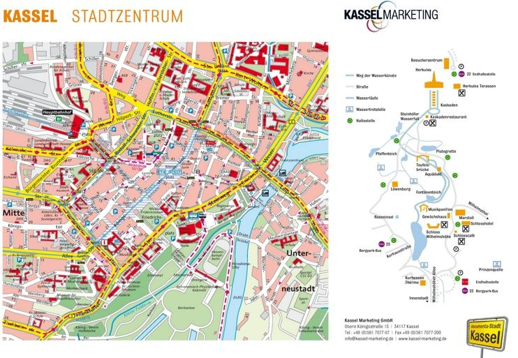 Kassel tourist map Maps Pinterest Tourist map Kassel and City