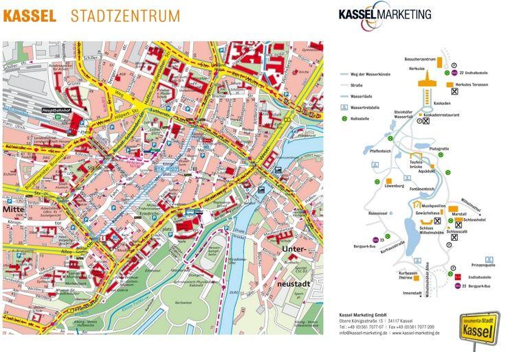 Kassel Tourist Map Maps Pinterest Tourist Map Kassel And City - Germany map tourist