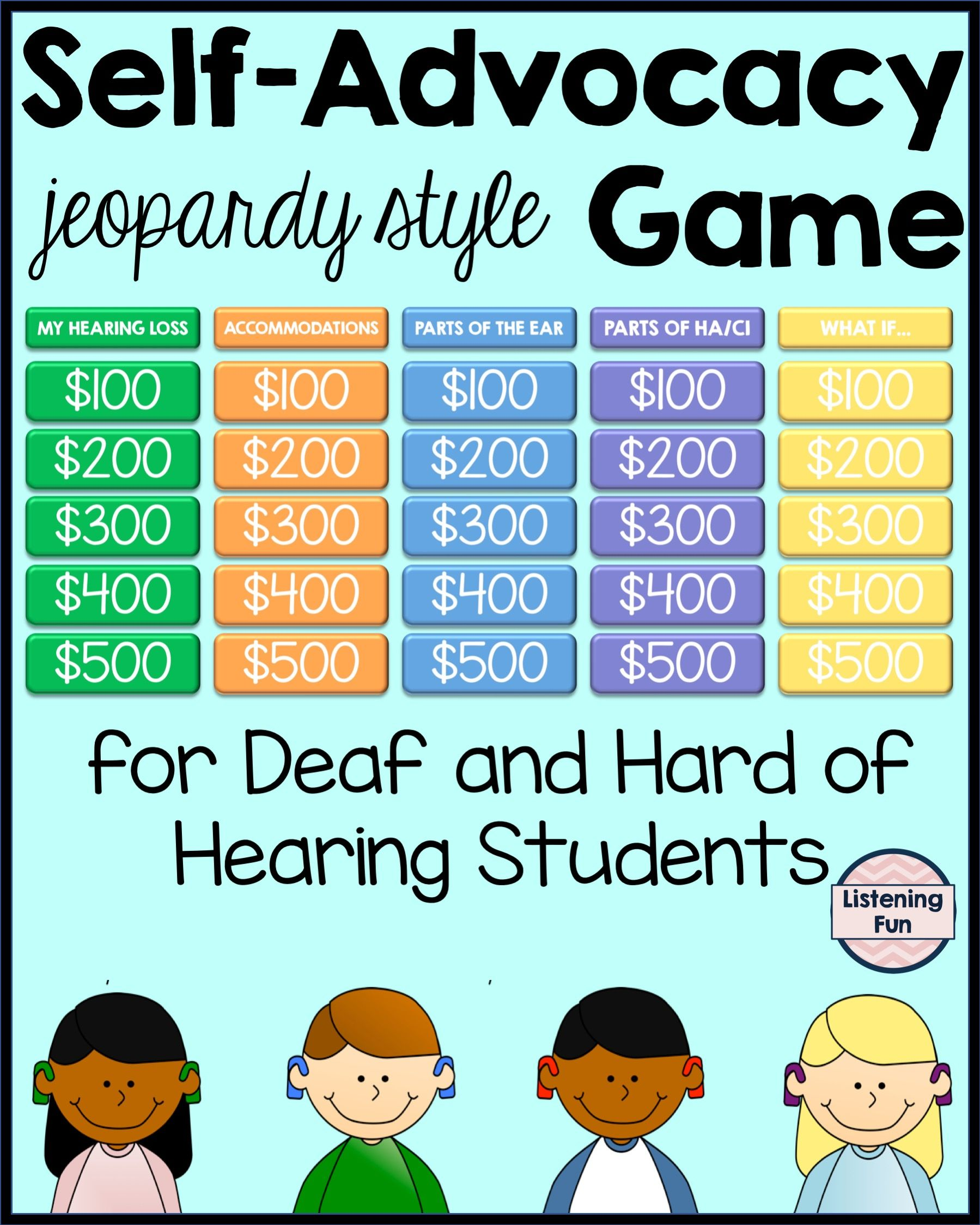 Self Advocacy Jeopardy Style Game For Dhh Students