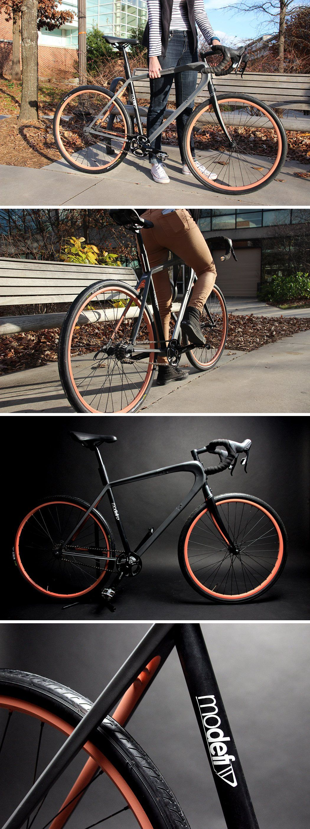 No single cyclist uses their bike in the same way! Designed with this in mind, with the use of carbon-fiber impregnated plastic and 3D printing, Modefi allows users to create their own bicycle tailored to their specific lifestyle.