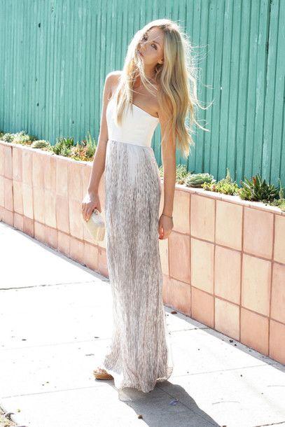 f85347b129e6 dress girl summer sund white dress white blogger blogger style hipster  maxidress long prom dresses blonde hair