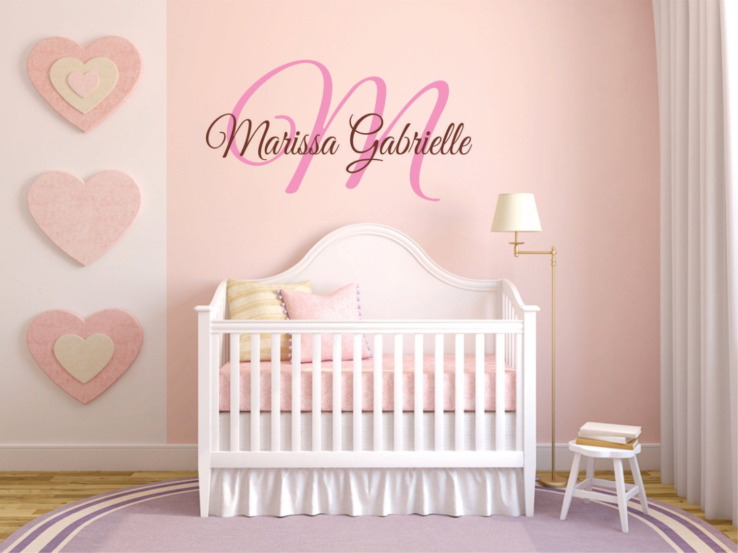 Personalized Name Wall Decal Baby Nursery Monogram Wd0108