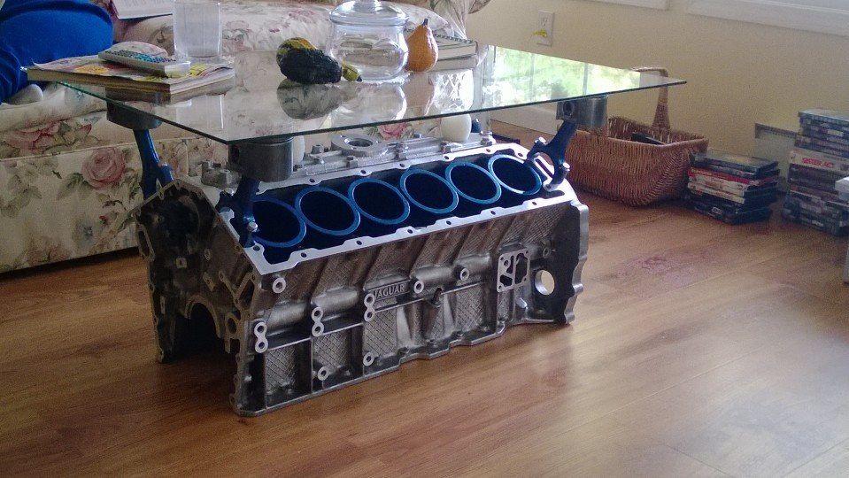 Engine block coffee table Car art coffee table Pinterest
