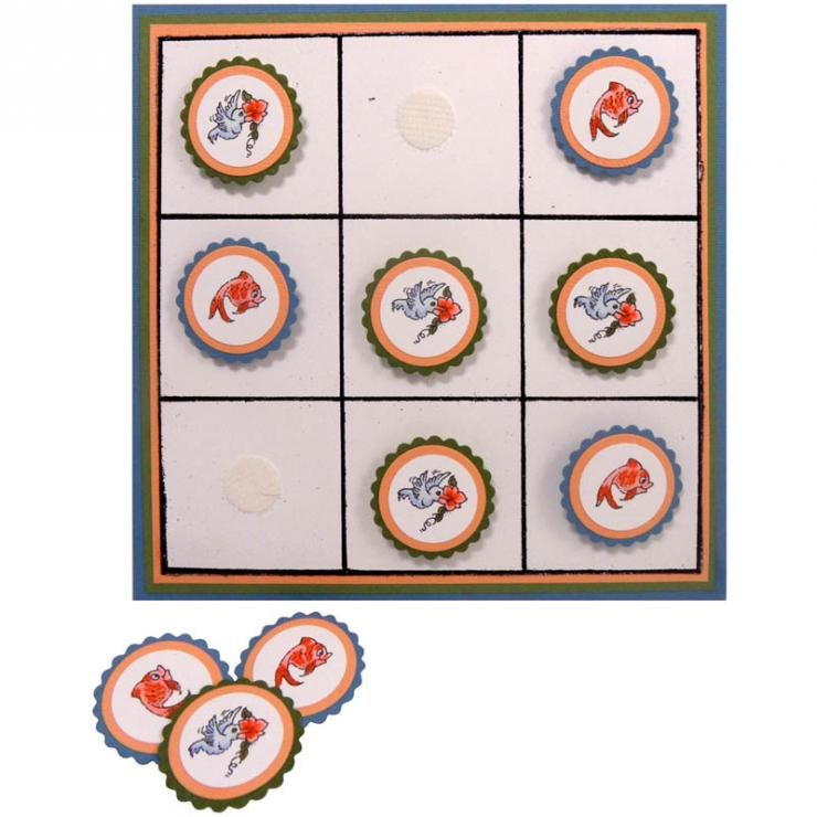 Stampendous Critter Collection Tic Tac Toe by Kristine Reynolds | cre8time.org
