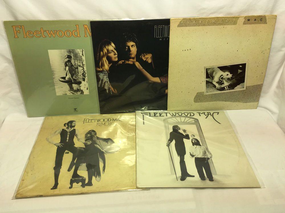 Fleetwood Mac - LP Vinyl Record Lot of 5 Future Games Mirage Tusk Rumours S/T