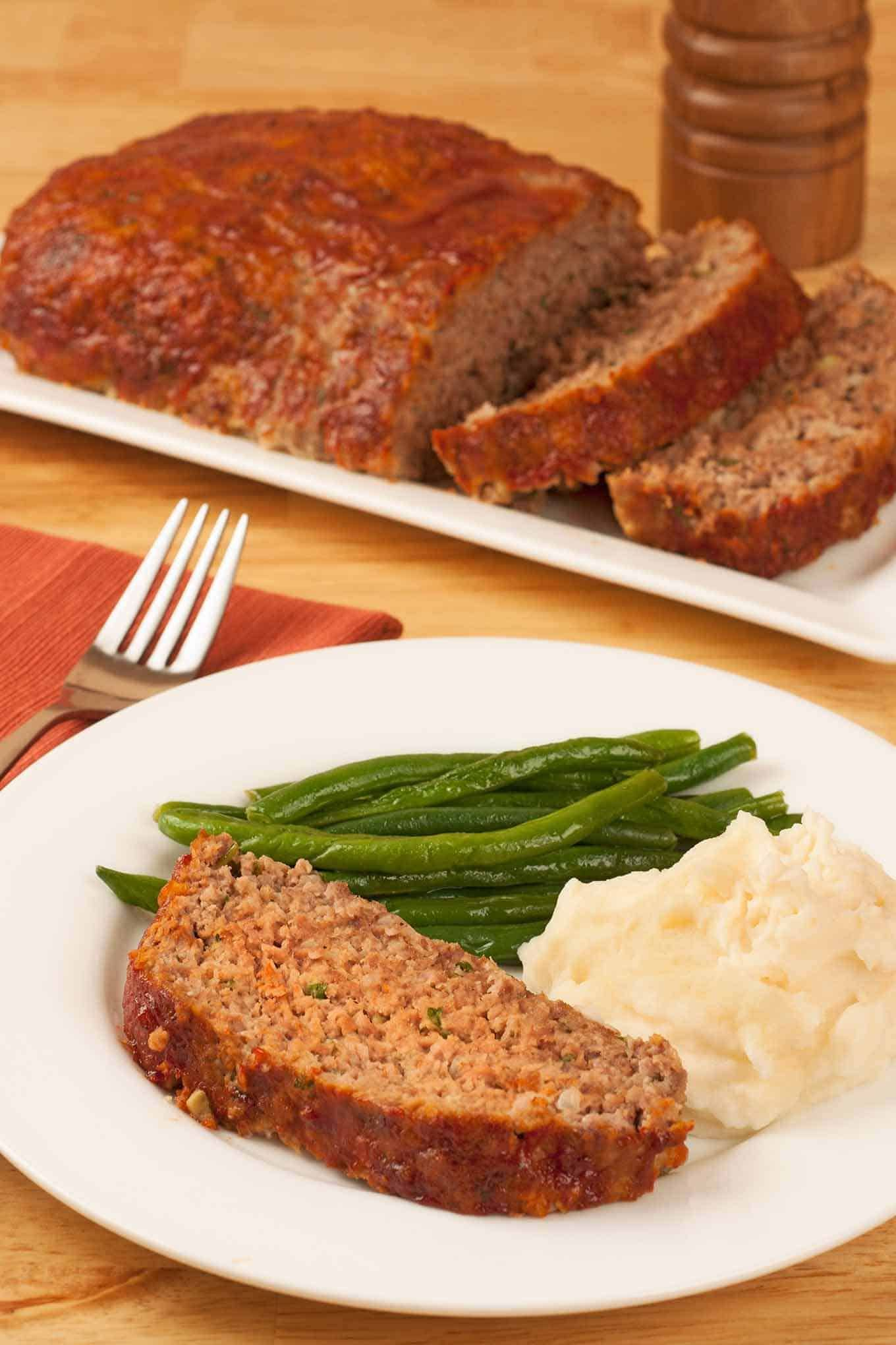 Always Moist And Flavorful Our Clic Meatloaf Recipe Uses A Combination Of Ground Beef