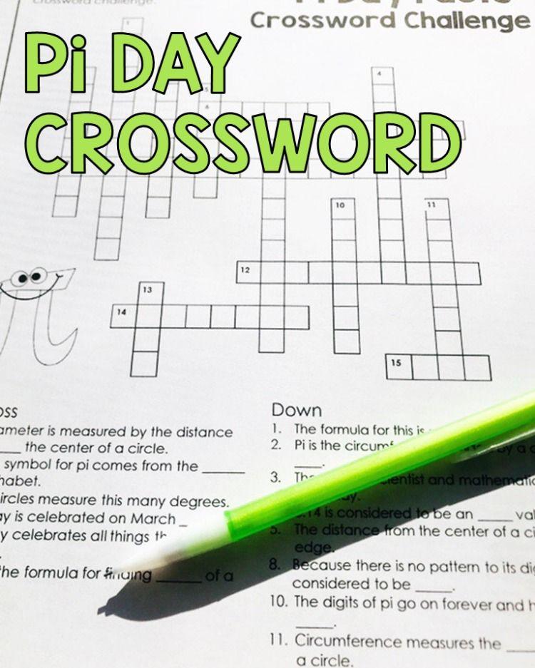 Pi Day Crossword Puzzle Challenge | Challenges, Math ...