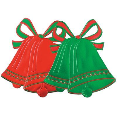 The Holiday Aisle Foil Christmas Bell Silhouette (Set of 8) Products