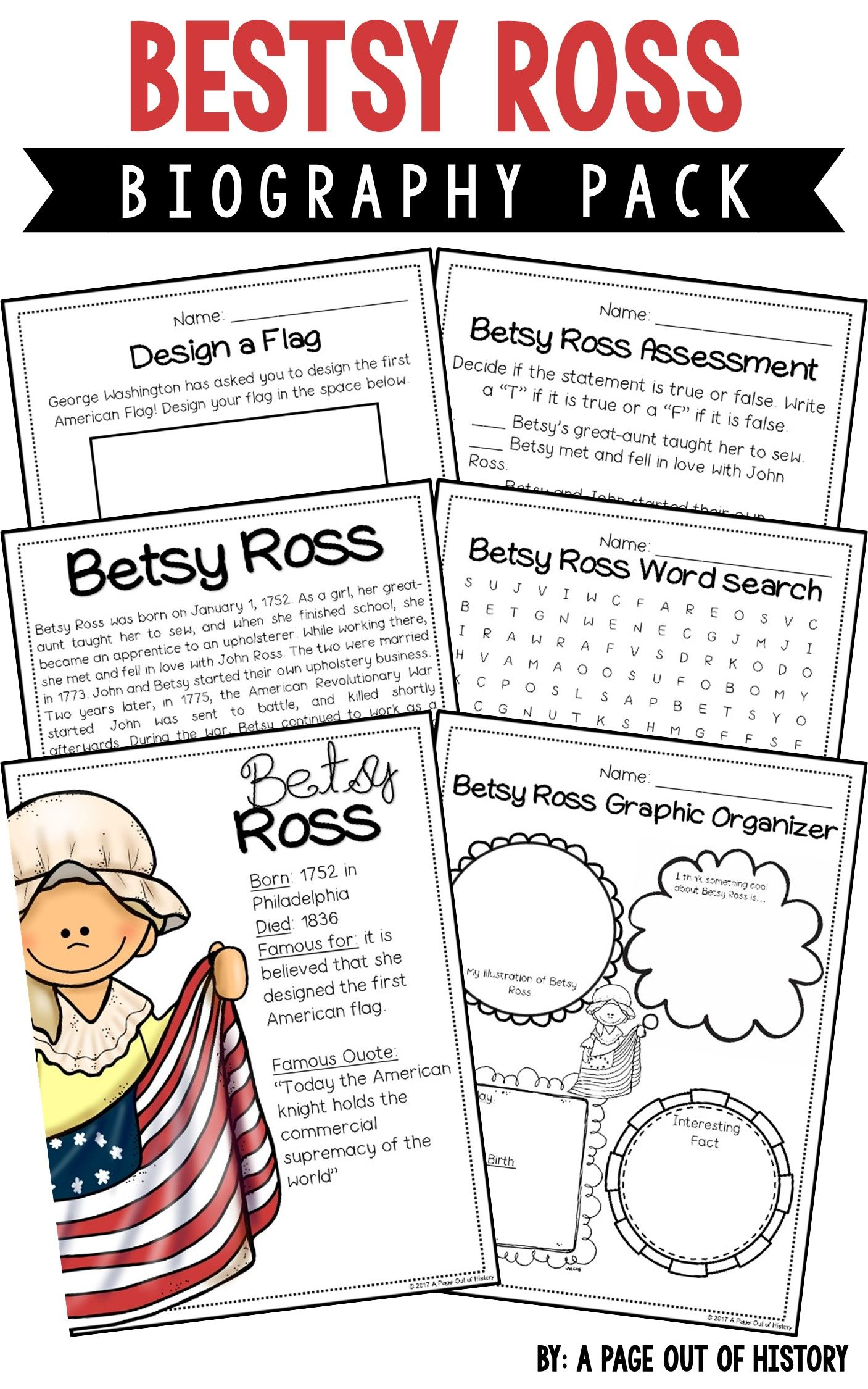 Betsy Ross Biography Pack