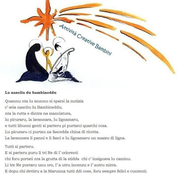 Poesie Di Natale In Siciliano.Poesia Di Natale In Dialetto Siciliano Natale Natale Italiano Filastrocche