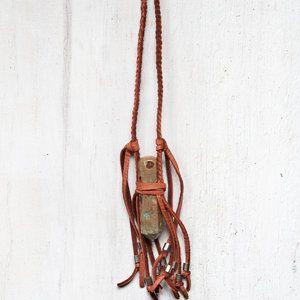 Jasper Wand Fringe Necklace