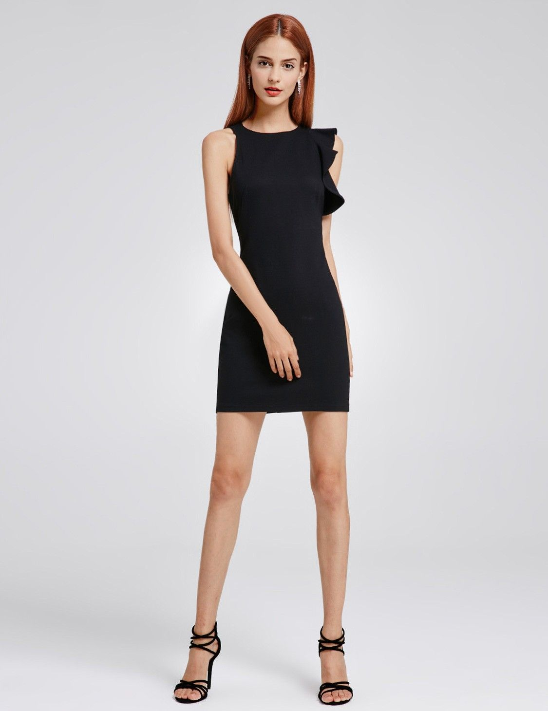 Unique short fitted little black dress in homecoming dresses