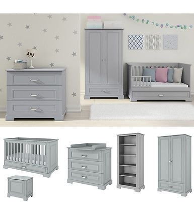 Attrayant Nursery Furniture Set Grey | Baby Cot Bed + #drawers + #changing Table +  #wardrob, View More On The LINK:  Http://www.zeppy.io/product/gb/2/221894262679/