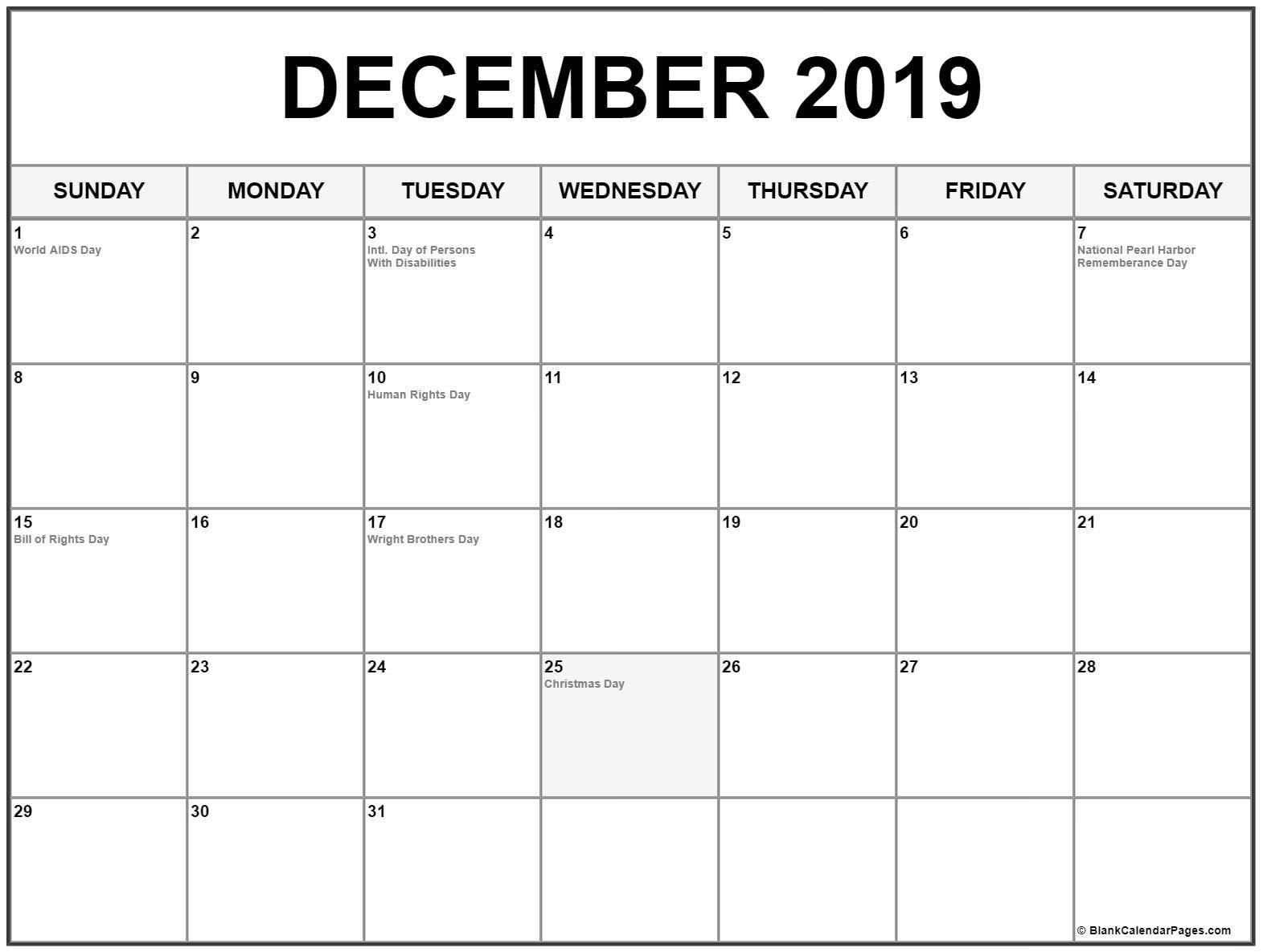 2019 December Calendar December Calendar 2019 #December #December2019