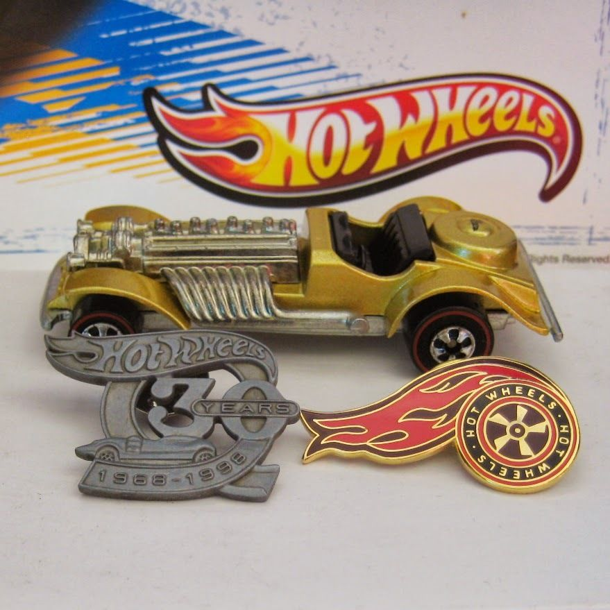 Figure 8 Cars For Sale: Hot Wheels Special Edition Series 1 KB Toys Gold Sweet 16