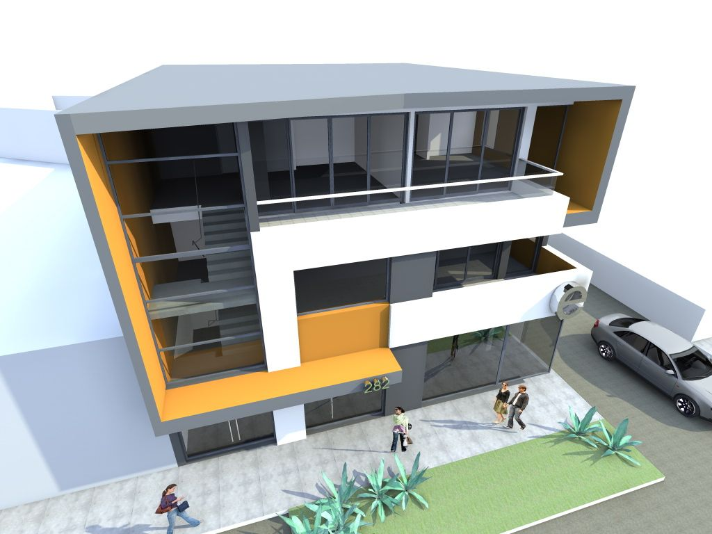 3 storey commercial building design 3 storey commercial for Two story office building plans