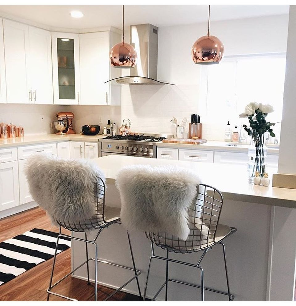 70 Majestic Copper and Rose Gold Kitchen Themes Decorations ...