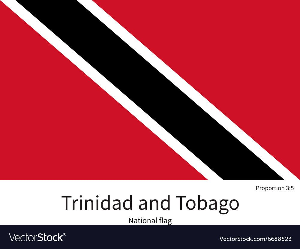 National Flag Of Trinidad And Tobago With Correct Vector Image