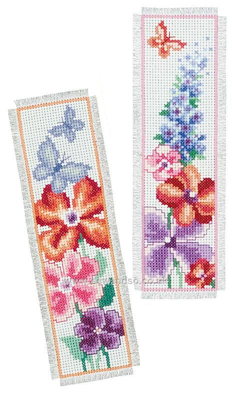 Buy Summer Bouquet Bookmarks Cross Stitch Kit Online at www.sewandso.co.uk