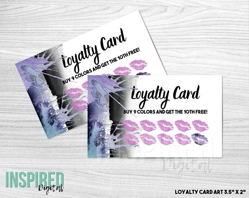 Makeup Loyalty Card Abstract Lips Lips Loyalty Lip Gloss Etsy Makeup Business Cards Lip Logo Beauty Business