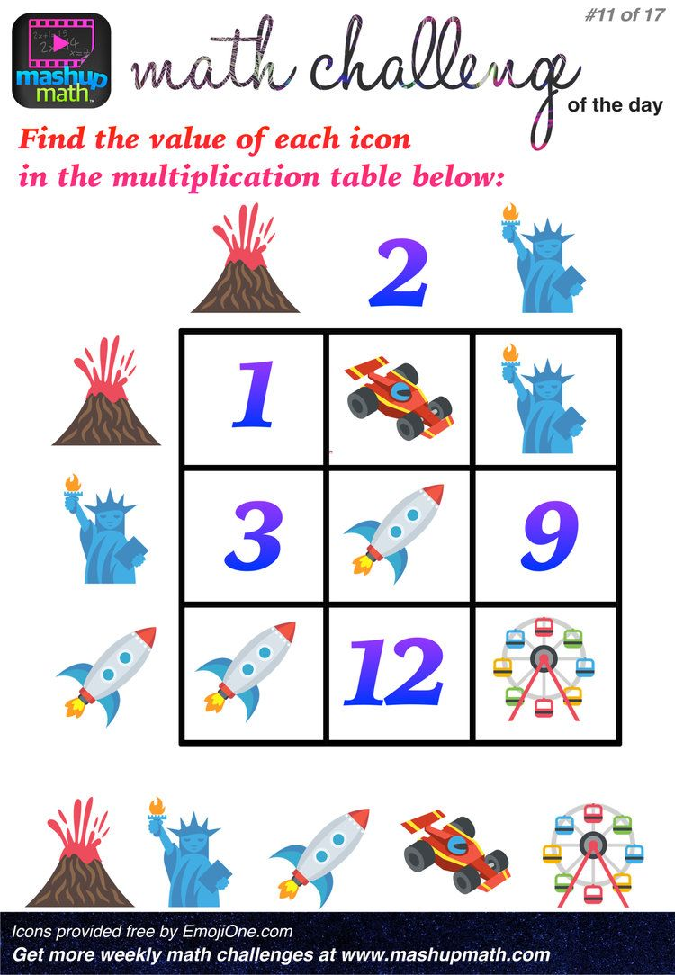 Are You Ready For 17 Awesome New Math Challenges Mashup Math Math Challenge Maths Puzzles Math