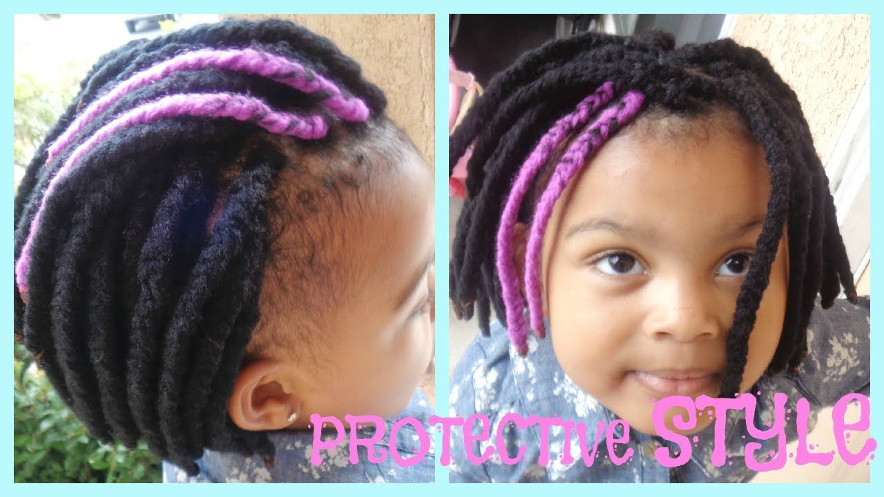 Natural Hair Braids For Kids Protective Style Yarn Braids Natural Hair Braids Natural Hair Styles Kids Hairstyles