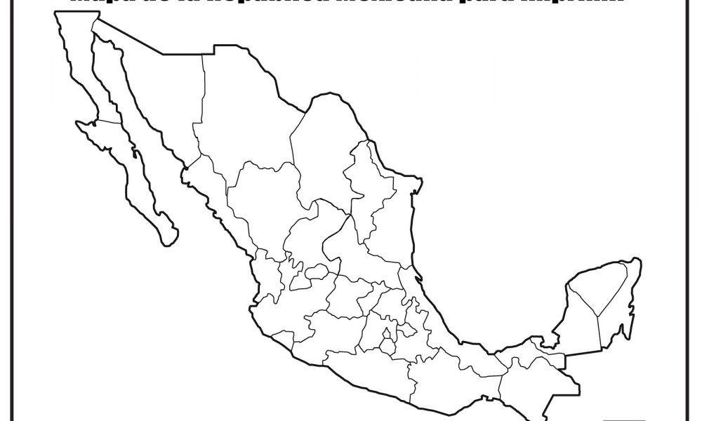 Mapa De Mexico Sin Nombres Mapa De Mexico Mapa Mexico Con Nombres Mapas