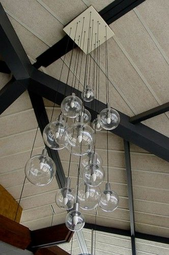 Great lights for a high entrance foyer or double story staircase ...