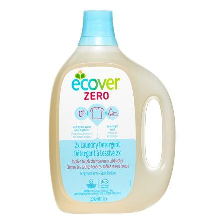 Ecover Zero 2X Laundry Detergent, Fragrance Free, 62 Loads, Multicolor