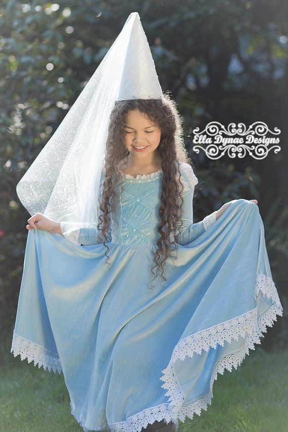 Hat Princess with Veil for Maid Marion Robin Hood Medieval Fancy Dress