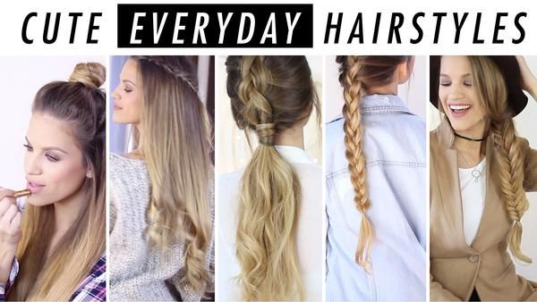 Everyday Hairstyles Everyday Hairstyle Ideas 5 Days Of Hair & Outfit Inspo  Everyday